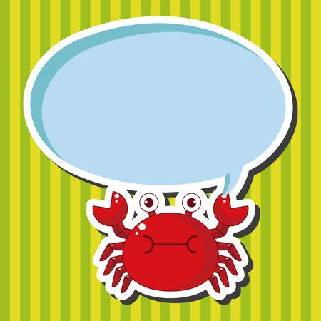 cangrejo caricatura: elementos del tema de dibujos animados cangrejo