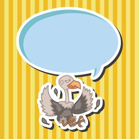 condor: bird condor cartoon theme elements vector,eps Illustration
