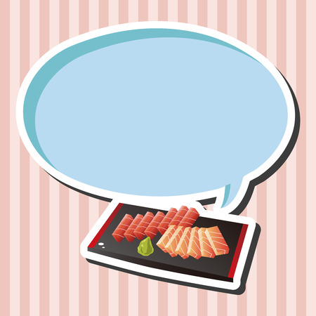 sashimi: japanese food theme Sashimi elements vector,eps