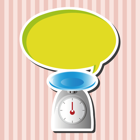 counterbalance: kitchenware weight scale theme elements vector,eps Illustration