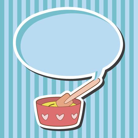 kitchenware baking bowl theme elements vector,eps