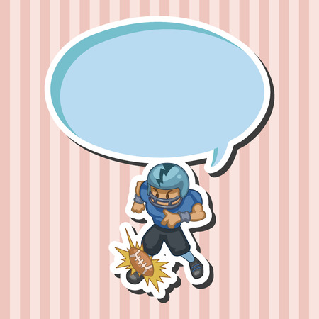 tackling: football player theme elements Illustration