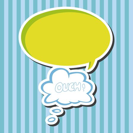 ouch: message word ouch theme elements