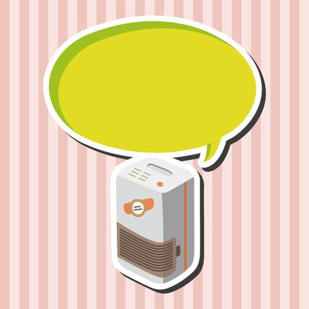 Dehumidifiers theme elements Illustration