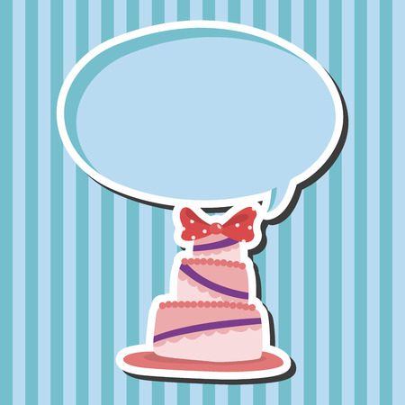 cakes background: decorating cake theme elements vector,eps10