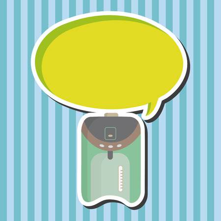 thermos: Home appliances theme electric thermos elements Illustration