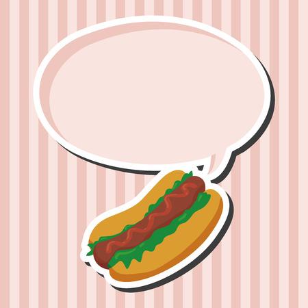fried foods: Fried foods theme hot dog elements Illustration