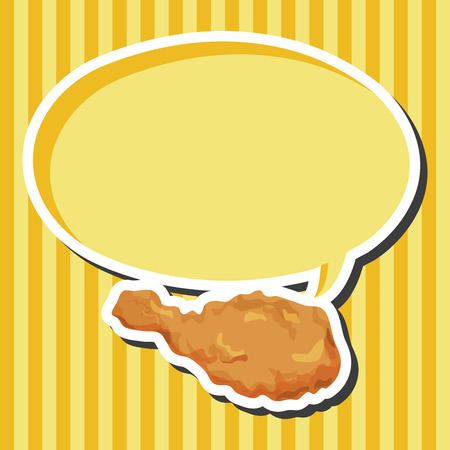fried foods: Fried foods theme chicken elements