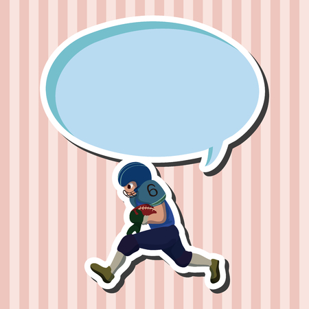 tackling: football player theme elements vector,eps Illustration