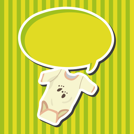 cute baby girls: Baby clothes theme elements Illustration