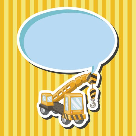 excavating: Transportation excavator truck theme elements