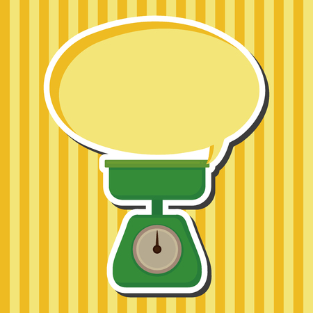 weight scale: kitchenware weight scale theme elements Illustration