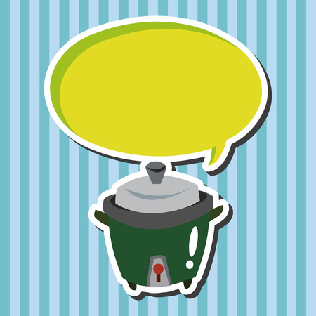 cooker: Home appliances theme rice cooker elements