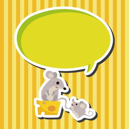 raton: Elementos del tema de dibujos animados del ratón animales Vectores