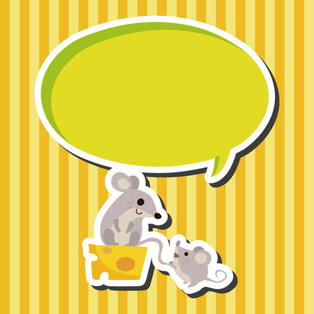 animal mouse cartoon theme elements Illustration