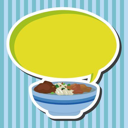 chinese menu: chinese food theme elements Illustration