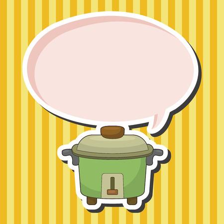 rice cooker: Electrodom�sticos elementos olla arrocera tema