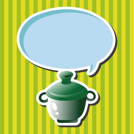 soup: kitchenware pot theme elements