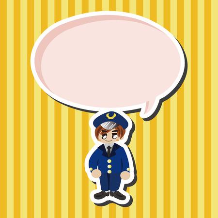 captain: captain theme elements vector