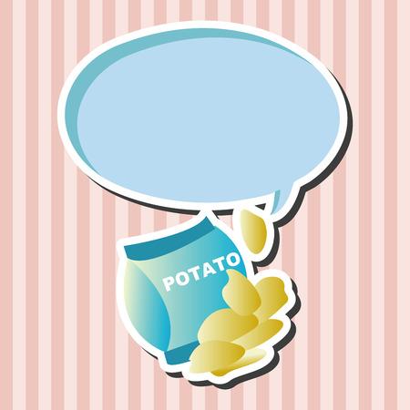 potato chips: fast foods potato chips theme elements Illustration