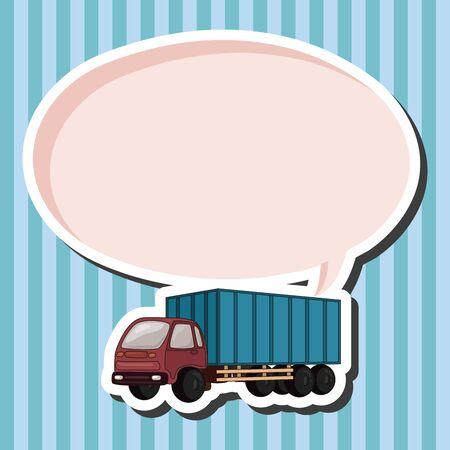 테마: truck theme elements vector