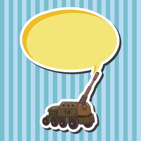 armoured: tank theme elements vector