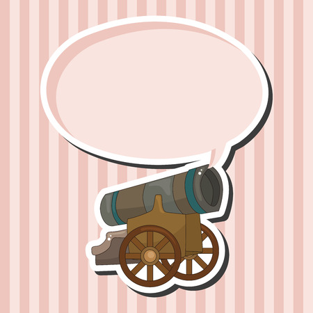 cannon ball: cannon theme elements vector