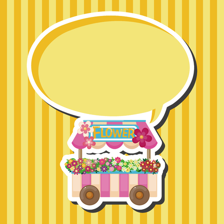mall signs: shop store cart theme elements Illustration