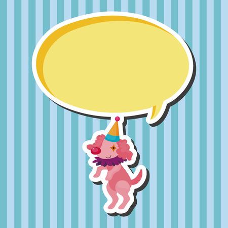 animal: circus animal theme elements
