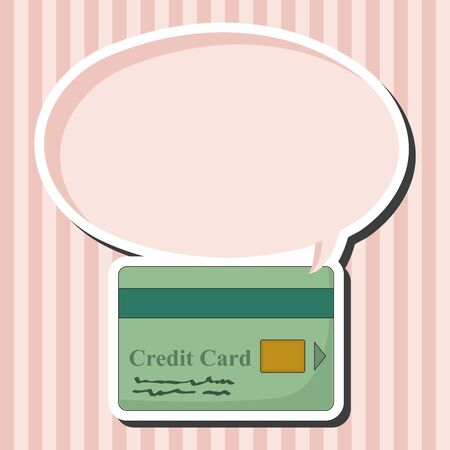bank statement: credit card theme elements