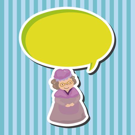 caperucita roja: grandmom en pequeños elementos temáticos caperucita roja Vectores