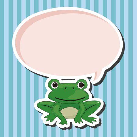 rana caricatura: Elementos del tema de dibujos animados rana animales Vectores