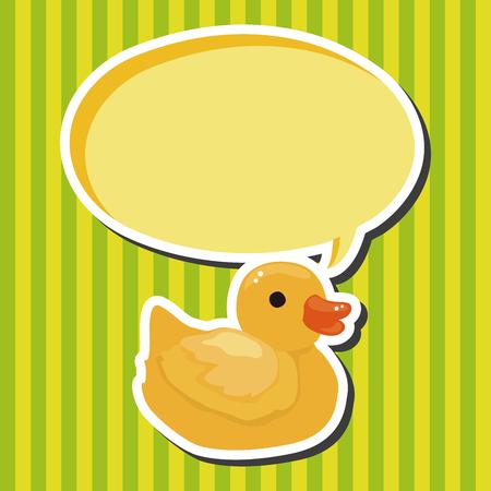 bathroom duck: bathroom duck theme elements Illustration