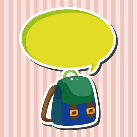 equipment: Travel equipment backpack theme elements