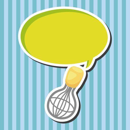 batidora: Elementos del tema batidor de cocina Vectores