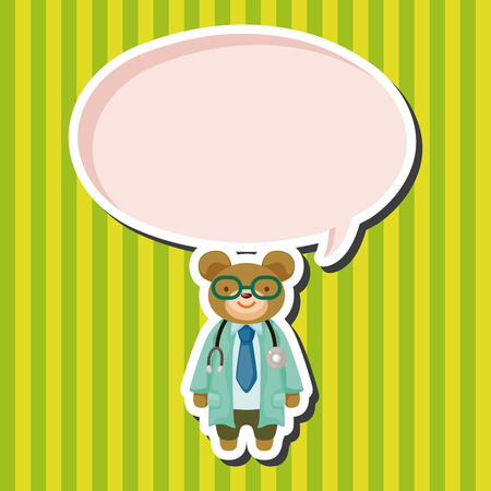 healthcare workers: animal bear doctor cartoon theme elements Illustration