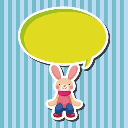 funny easter: rabbit theme element vector,eps