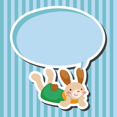 osterhase: Kaninchen Thema Element-Vektor, EPS-