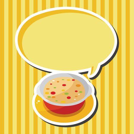 chowder: Corn chowder soup theme elements
