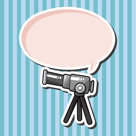 binoculars view: Telescope theme elements