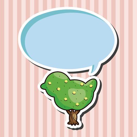 fairground: Amusement park tree theme elements Illustration