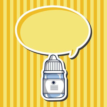medicine bottles: Eye drops theme elements