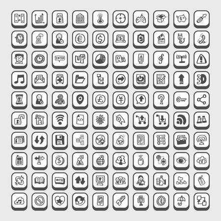 social gathering: Doodle Web Icons
