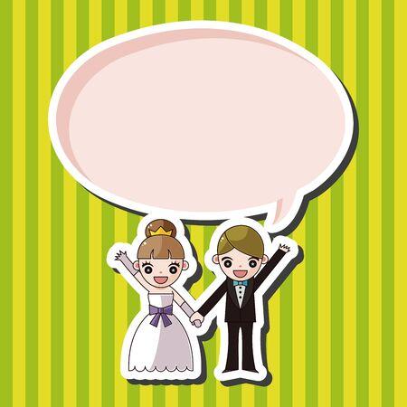 wedding couple: wedding couple theme elements vector