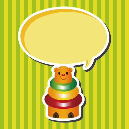 baby toy: baby toy brick tower theme elements Illustration