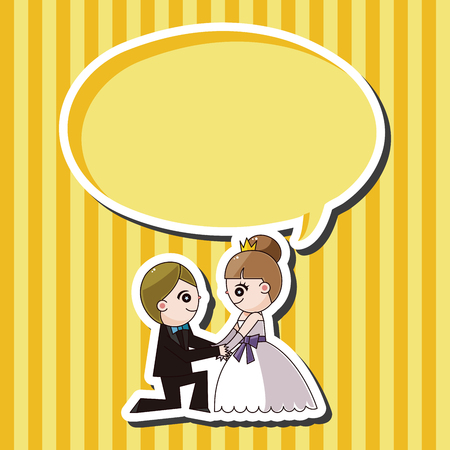 wedding couple: wedding couple theme elements vector
