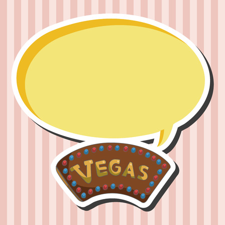 las vegas lights: casino sign theme elements Illustration