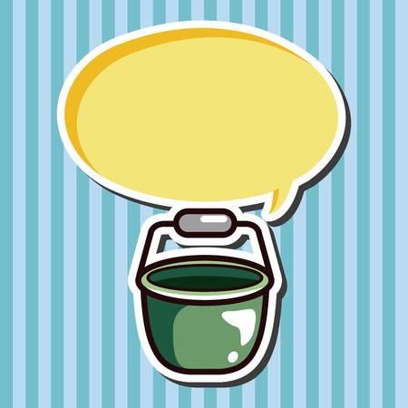 water theme: water bucket theme elements Illustration
