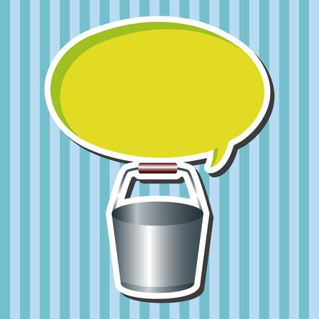 water bucket: water bucket theme elements Illustration