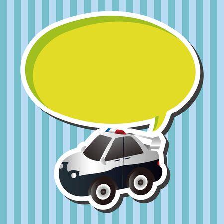 politieauto: transportation theme police car elements vector Stock Illustratie